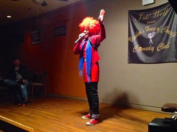 Justice Jester during NYC Shut it Down's stand up comedy event on April 11. (WNV/Ashoka Jegroo)