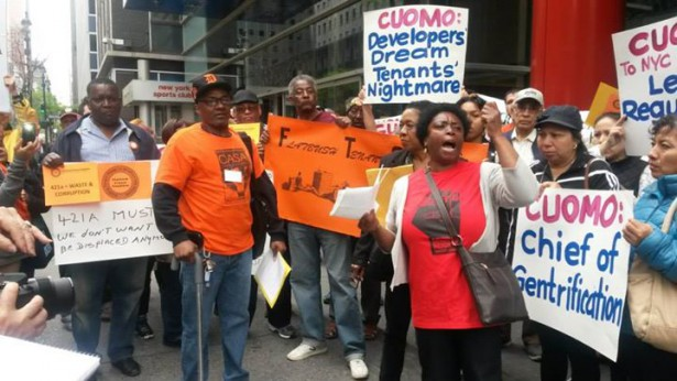 Members of the Crown Heights Tenant Union demanding stronger rent laws (Facebook / Metropolitan Council on Housing)