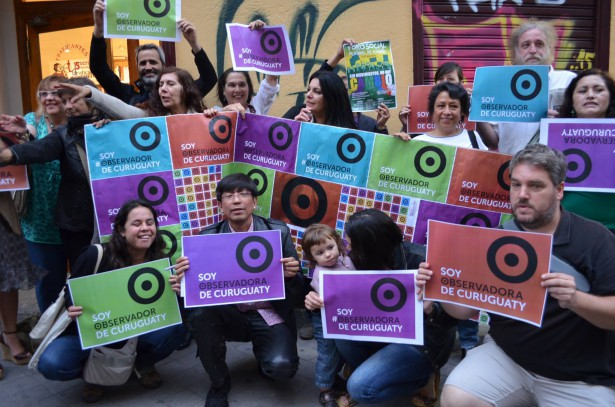 At the launch of the campaign in Madrid, Spaniards and Paraguayan migrants declare themselves observers. (WNV/Paraguay resist in Madrid)