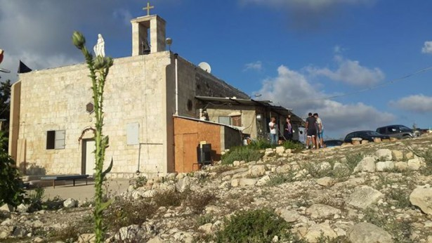 Saint Mary's Church in Iqrit was the only structure left standing after a 1951 IDF bombing that destroyed 100 homes in the Christian village. (Facebook / Iqrit)