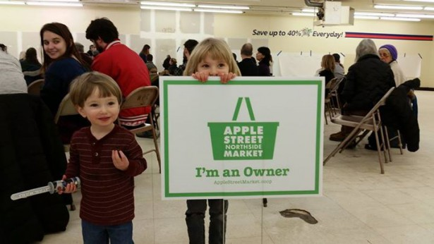 Community members gathered for an owners meeting at Apple Street Market in February. (Facebook / Apple Street Market)