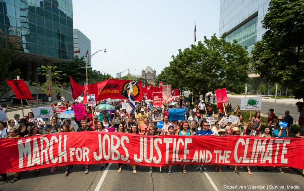 More than 10,000 gathered in Toronto on July 5 for the largest and most diverse climate mobilization in Canadian history. (Project Survival / Robert van Waarden)