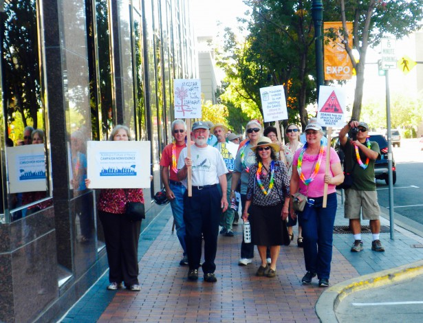 A CNV march to protect Idadho from nuclear waste. (CNV Boise)