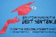 Ad for Million Student March. (Facebook)