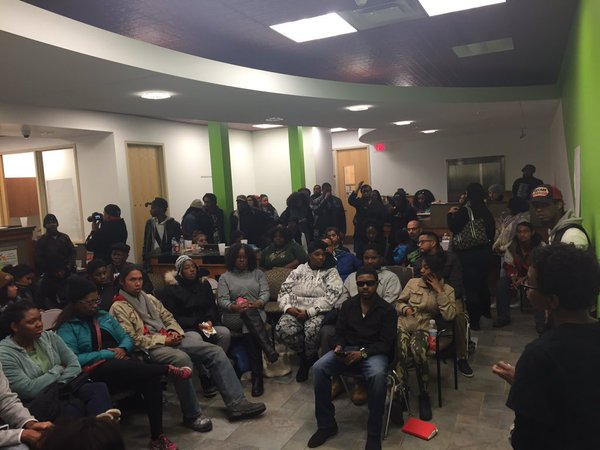 A community meeting to figure out the next steps after the shooting. (Twitter / Black Lives Matter MPLS)