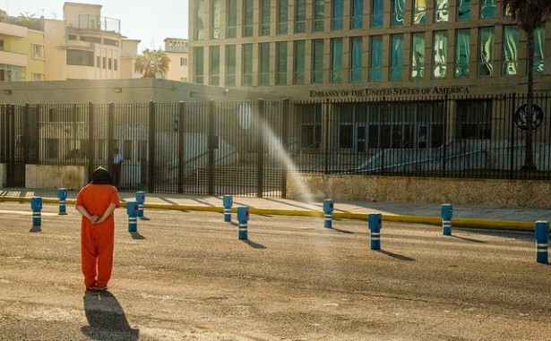 Witness Against Torture outside the U.S. Embassy in Cuba. (Flickr / Justin Norman)