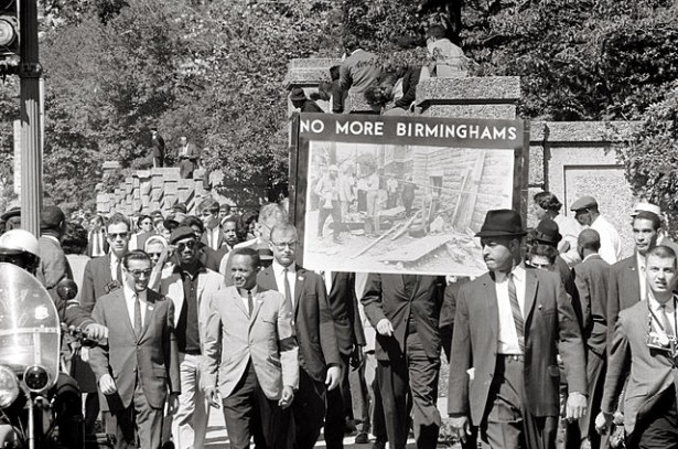 Congress of Racial Equality march in Washington, D.C. on September 22, 1963 in memory of the children killed in the Birmingham bombings. (Wikipedia / Thomas J. O'Halloran)
