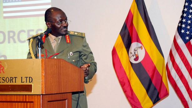 Minister of internal affairs, Gen. Aronda Nyakairima, at the 2012 African Land Forces Summit. (Flickr / US Army Africa)