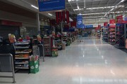 A photo of an empty Lider, one of the supermarkets that was boycotted, on January 10. (Twitter/Lucas Palape)