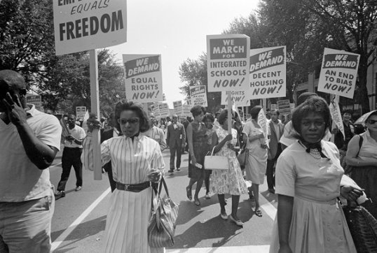 Demonstrators at the 1963 March on Washington.