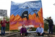 September 2015 Missoula railroad blockade_Photo by Blue Skies Campaign