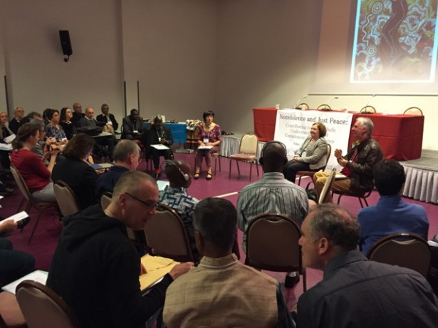 "Participants gathered in Rome for the ""Nonviolence and Just Peace Conference"" from April 11-13. (WNV/Ken Butigan)"