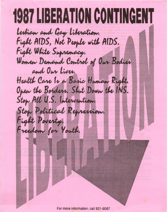An LAGAI flyer from 1987.