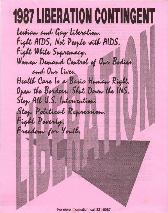 An LAGAI flyer from 1987.