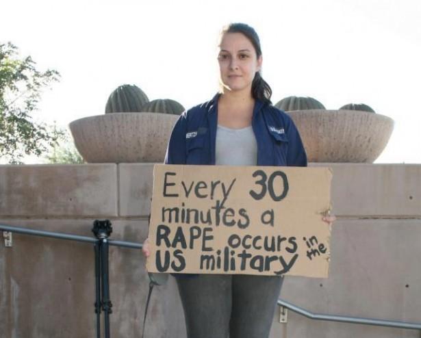 Panayiota Bertzikis, Executive Director of the Military Rape Crisis Center and U.S. Coast Guard rape survivor. (My Duty to Speak/Sand Angel Media