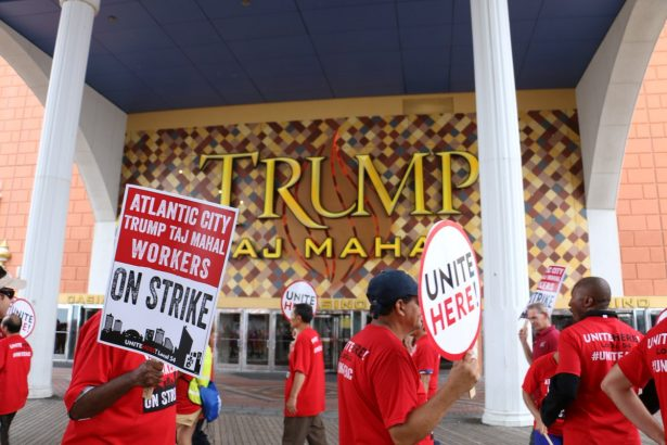 UNITE HERE Local 54 workers at the Trump Taj Mahal in Atlantic City, have been on strike since July 1, making it the longest strike in the city's history. (UNITE HERE Local 54)