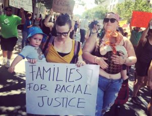 Parents marching in Charlotte on September 24. (WNV / Roan)