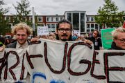 Welcome to Denmark activists march in Aarhus on October 7. (Facebook / Welcome to Denmark)