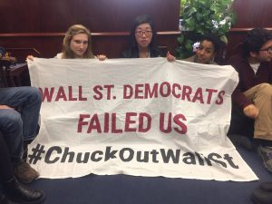 Members of the group #AllofUs occupy Sen. Chuck Schumer's office on Nov. 14. (Twitter/AllofUs2016)
