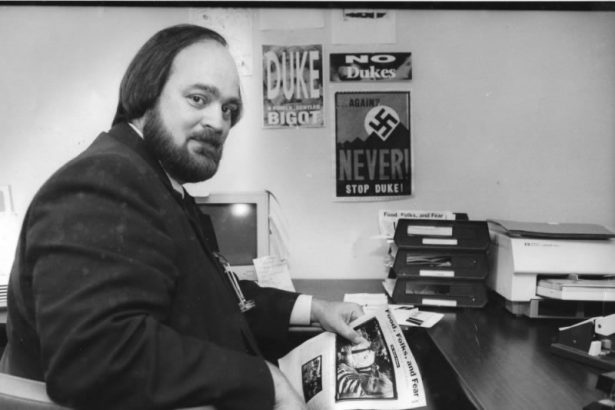 Lance Hill during the early 1990's LCARN campaign against David Duke. (LCARN)