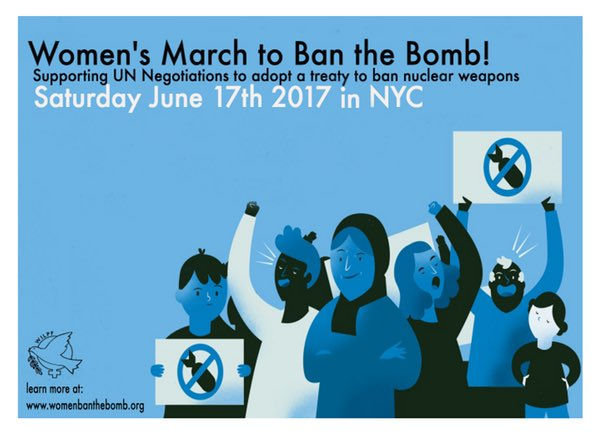 "An ad for the women's ""ban the bomb"" march."