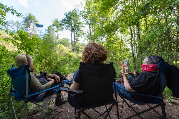 The Camp White Pine community supports the tree-sit.